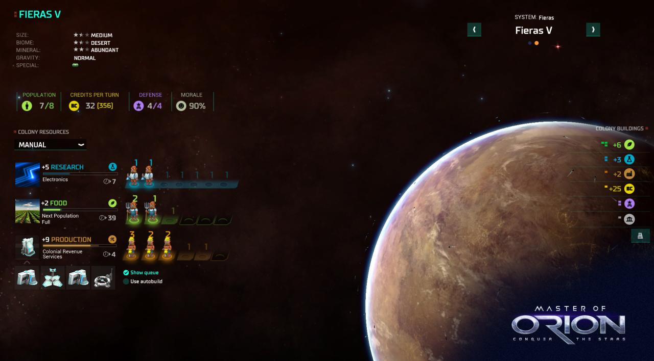 Master of Orion Conquer The Stars Features
