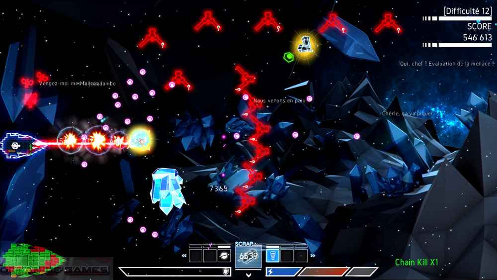 Psycho Starship Rampage Features