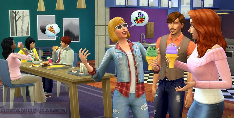 The Sims 4 Cool Kitchen Setup Download For Free